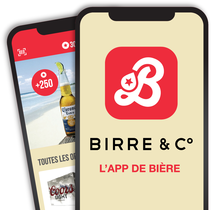 Aperçu de l'application mobile Birre & Co.